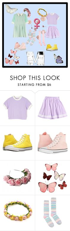 """""""Spring Lovers (Lez ver)"""" by mredge ❤ liked on Polyvore featuring Converse, Zara Taylor, H&M and Joules"""