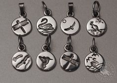 Tiny charms in sterling silver. Add them to a charm bracelet or wear them on a necklace. Handcrafted at John Miller Design, Yallingup Western Australia John Miller, Western Australia, Handcrafted Jewelry, Sterling Silver Jewelry, Charms, Artisan, Jewels, Personalized Items, Bracelets