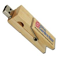 Clothespin Wood Material USB Flash Drive