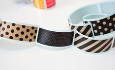 Midori Stickers - Kraft Dot Envelope Seals - Midori Japanese 6 Kraft Black Stripe & Spot Stickers