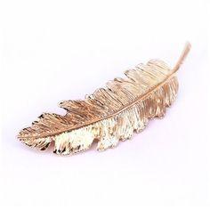 lovely Women Girl Metal Leaf Hair Clip Crystal Hairpin Barrette Headwear