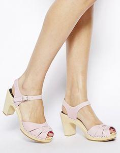 Enlarge Swedish Hasbeens Pink Peep Toe Super High Heeled Sandals
