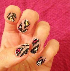Ikat Nail Art by local Nails Y'all
