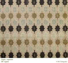 Tunis in Espresso from Tylergraphic #textiles #fabric #brown
