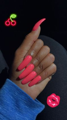 Make an original manicure for Valentine's Day - My Nails Aycrlic Nails, Dope Nails, Nails On Fleek, Coffin Nails, Pink Nails, Gorgeous Nails, Pretty Nails, Long Acrylic Nails, Nagel Gel