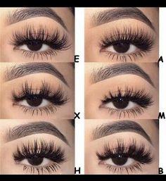 Makeup Tips, Beauty Makeup, Makeup Ideas, Russian Volume Lashes, Eyelash Extensions Styles, Skin Makeup, Eyeliner Makeup, Makeup Brush, False Lashes