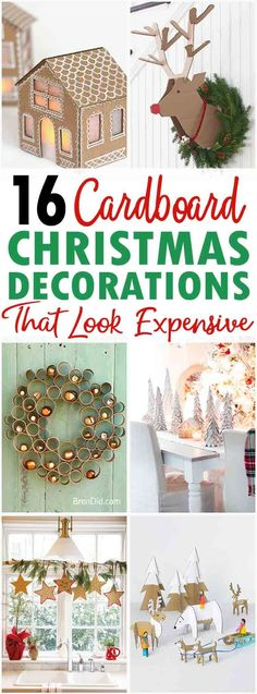 16 homemade cardboard Christmas decorations, cardboard decorations, cardboard crafts, upcycled crafts, recycled crafts, upcycled home decor, recycled home decor via @brendidblog