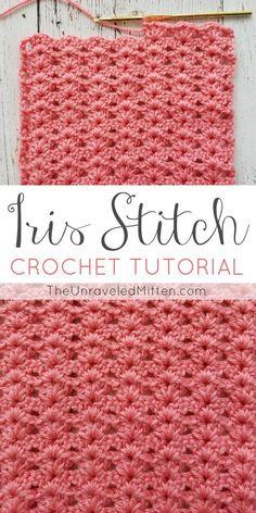 Iris Stitch Croche Tutorial   The Unraveled Mitten   Easy Shell Stitch   blanket   scarf   Beginner