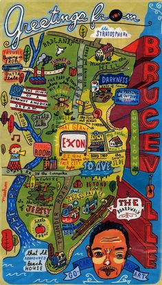 'Bruceville' is New Jersey, as it can be reconstructed out of Bruce Springsteen's lyrics.