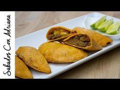 Empanadas con 0 grasa - Sábados Con Adriana - YouTube Baked Potato, Healthy Snacks, Mexican, Make It Yourself, Ethnic Recipes, Youtube, Caldo De Pollo, Deep Fryer, Cooking Recipes