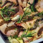 Pečené kuře s rozmarýnem a ančovičkami
