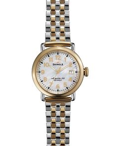 800.00$  Watch here - http://vilbn.justgood.pw/vig/item.php?t=rv69ja36659 - Shinola The Runwell Two Tone Mother of Pearl Dial Watch, 36mm 800.00$