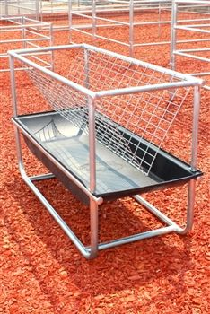 Combination Hay And Feed Fence Line Bunk Feeder Is