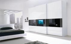 Resultado de imagen para bedroom wardrobe with tv