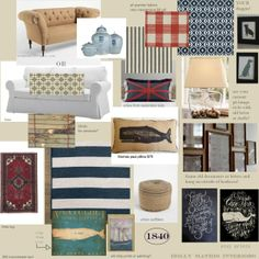 Hubby and I are brainstorming on a living room re-do. Classy, rustic nautical is our theme.