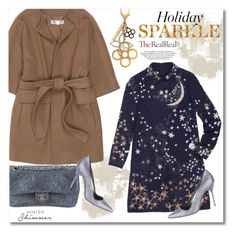 """""""Holiday Sparkle With The RealReal: Contest Entry"""" by vkmd on Polyvore featuring Louis Vuitton, STELLA McCARTNEY, Valentino, Chanel and Manolo Blahnik"""