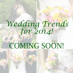As we gear up for the New Year...be sure to follow our New Board...Wedding Trends for 2014! Pins to be added soon!