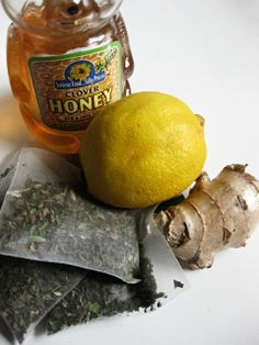 helpful Amazing Fever-Reducing, Headache-Calming, Belly-Soothing, Health Drink...2 mint (herbal) tea bags juice of 1/2 a lemon 1/2 an inch to 1 inch of ginger root (depends on how much heat you can handle) 2 Tablespoons of honey (use maple syrup in children under 15 months of age) 32 oz of water