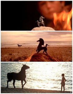 Loved the music from this section of the Black Stallion movie... the music is almost the only thing they got right. :P