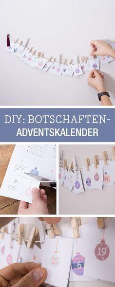 Last Minute Adventskalender mit romantischen Botschaften für Deinen Liebsten / romantic advents calendar, last minute diy via DaWanda.com