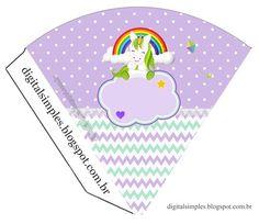 a334aadb0 Kit para festa infantil de Aniversário com o tema dos Unicórnios,  totalmente gratuito para imprimir e fazer a festa em casa, com livrinho de  atividades ...