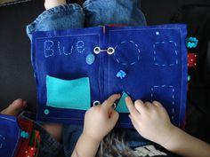 Children's Felt Activity Book: Colors