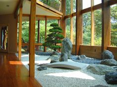 Japanese Garden.  Interior landscape design  By Lee's Oriental Landscape Art