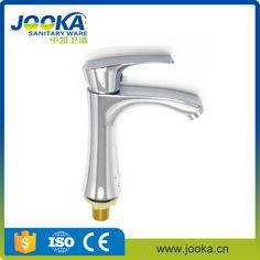 Top Sanitary Ware deck mounted chrome plate bathroom basin tap