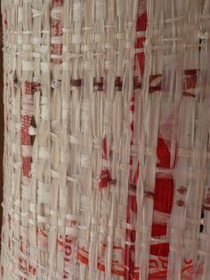 Lampshade - Plastic bags weaving
