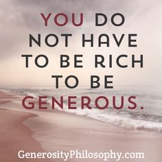 Great quote about generosity