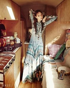 """Bohemian Rhapsody"" Models in Etro for Vogue Korea March 2015"