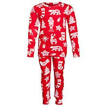 Hatley Christmas Pyjamas, Red Online at johnlewis.com