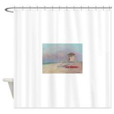 Beach Watch Shower Curtain