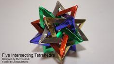 Five Intersecting Tetrahedra (Thomas Hull)