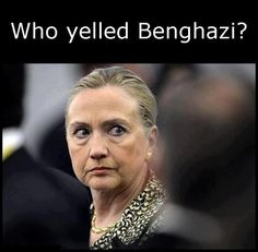 When you look at those eyes remember, Hillary lied about Benghazi while standing in front of the victims' caskets.