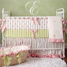 Elegant baby room. Love the palette!