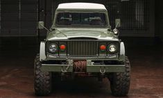 Despite the fact that we love the new Jeep Gladiator pickup truck, our hearts pine for vintage. Case in point, this Vietnam-era Jeep Gladiator-based Kaiser Jeep Pickup, Jeep 4x4, Pickup Trucks, Super Swamper Tires, Green Jeep, Utility Truck, Tough As Nails, Jeep Gladiator, Lifted Trucks