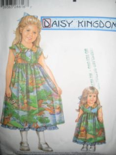 Simplicity Pattern Girl and 18 Inch Doll Dress by missussewnsew, $5.95