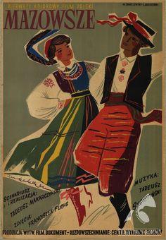 Polish posters: MAZOWSZE - Witold Chmielewski, Lucjan Jagodziński (1954)