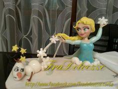 FraDolcezze: TORTA FROZEN - Elsa e Olaf Elsa Frozen, Olaf, Disney Princess, Cake, Elsa From Frozen, Food Cakes, Cakes, Tart, Disney Princes