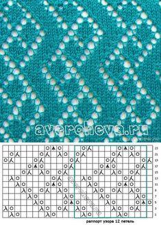 don& knit empty squares . Lace Knitting Stitches, Lace Knitting Patterns, Knitting Charts, Lace Patterns, Loom Knitting, Knitting Designs, Stitch Patterns, Crochet Chart, Filet Crochet