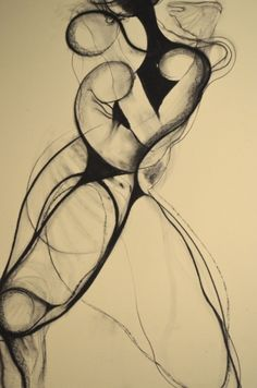 Drawing by Carmel JenkinDivergent, charcoal on paper, 81cm x..., painting by artist Carmel Jenkin