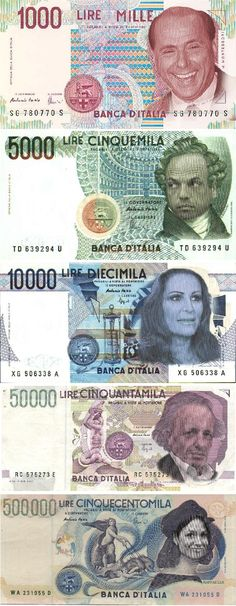 italian currency in case B. is backnew italian currency in case B. Cold Hard Cash, Money Notes, World Coins, Rare Coins, Crochet Hats, Infographics, Italy, Silver, Report Cards