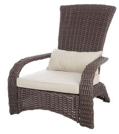 Bring the comfort of your living room in a stylish way by using this Patio Sense Deluxe Coconino Wicker Chair. Ensures good quality and durability. Outdoor Wicker Chairs, Patio Dining Chairs, Outdoor Lounge, Outdoor Seating, Adirondack Chairs, Indoor Outdoor, Outdoor Living, Garden Chairs, Porch Chairs