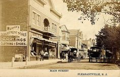 Pleasantville NJ Street View Weavers Store Horse and Wagon Postcard Print
