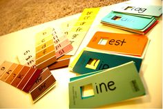 paint-chip-crafts kids site words, learning how to read in a colorful fun way