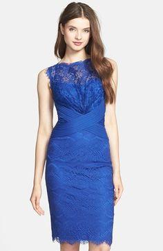 Tadashi Shoji Lace Sheath Dress (Regular & Petite) #Nordstrom