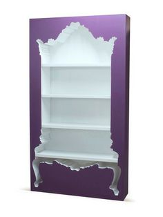 InsideOut Bookcase POLaRT #gilt #polart