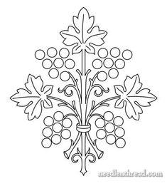 Hand Embroidery Pattern: Grape Bunch: