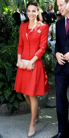 Vestido casaco vermelho